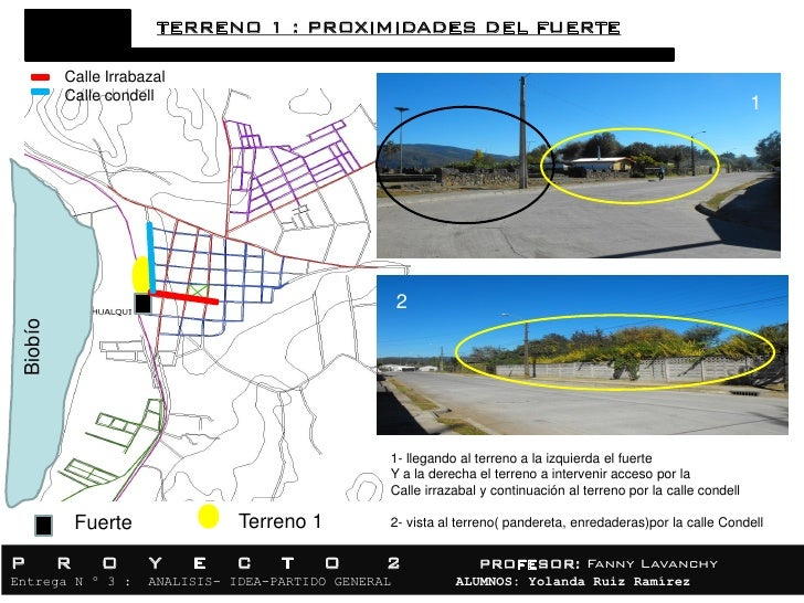 TERRENO 1 : PROXIMIDADES DEL FUERTE          Calle Irrabazal          Calle condell                                       ...