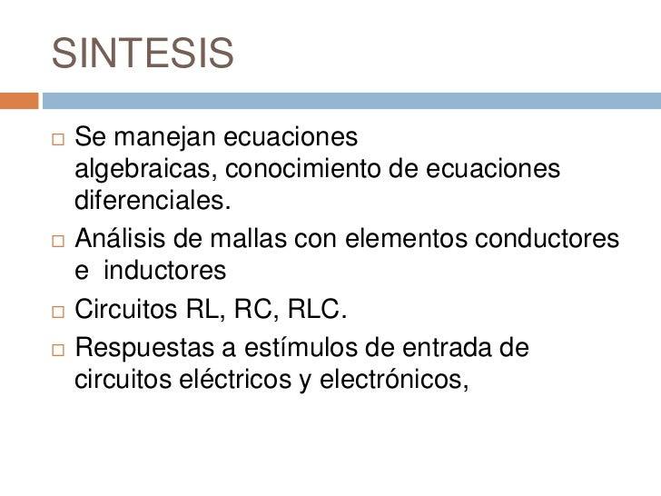 Circuito Rlc Ecuaciones Diferenciales : Analisis ii