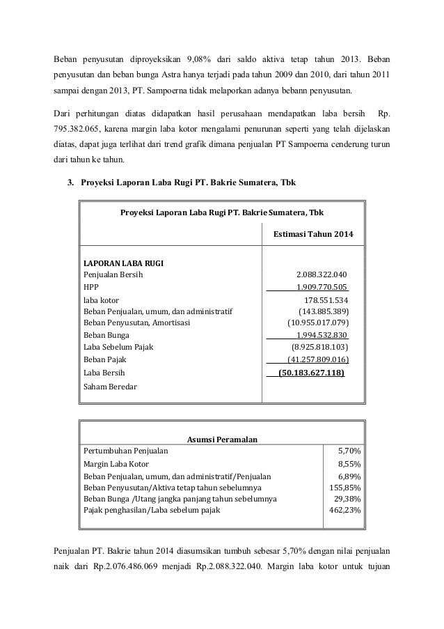Analisis Informasi Laporan Keuangan Subsektor Perkebunan