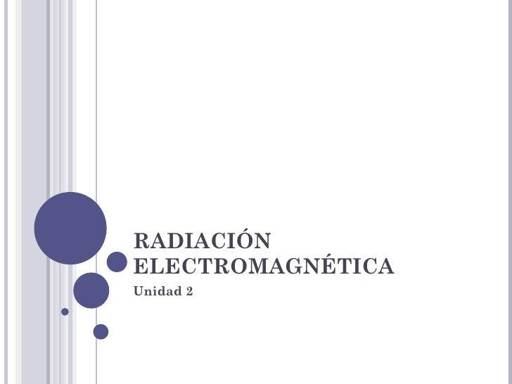 RADIACIÓNELECTROMAGNÉTICAUnidad 2