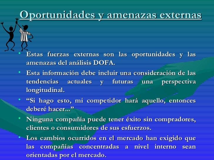 Analisis interno y externo for Personal en el exterior
