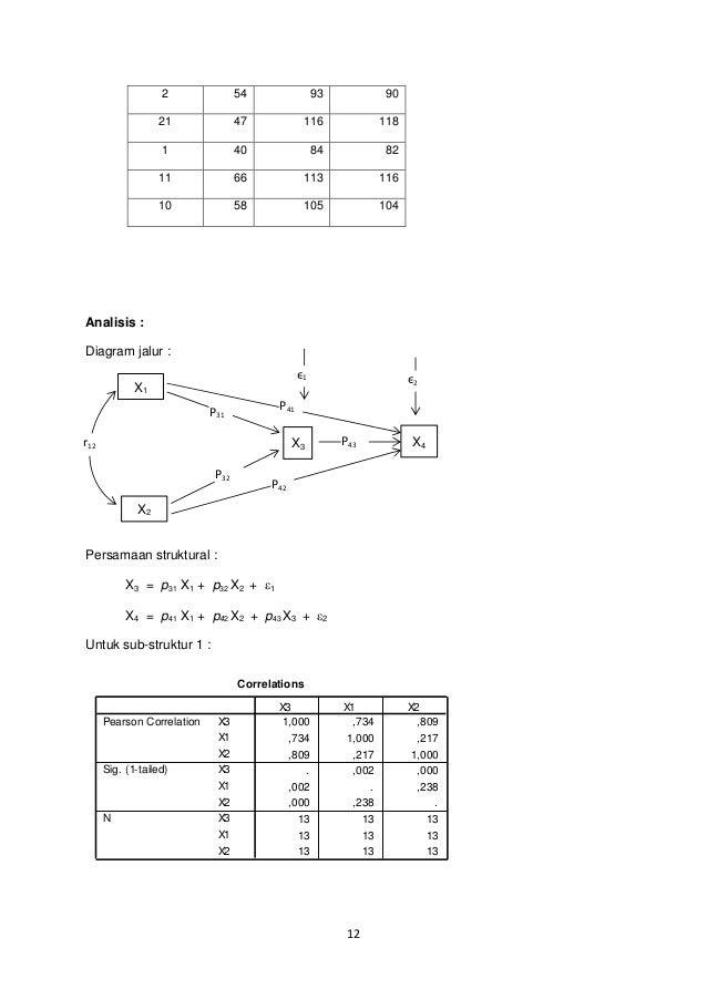 Analisis jalur path analysis 12 ccuart Choice Image