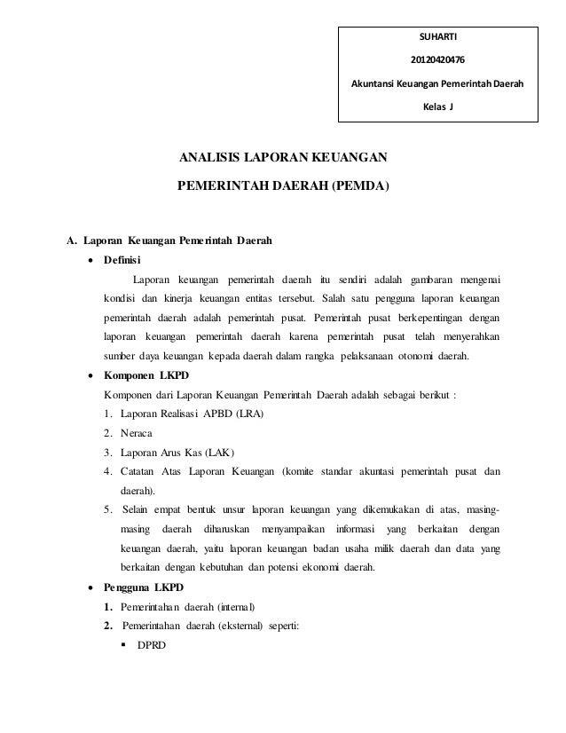 Analisis Laporan Keuangan Pemerintah Pusat Dan Daerah