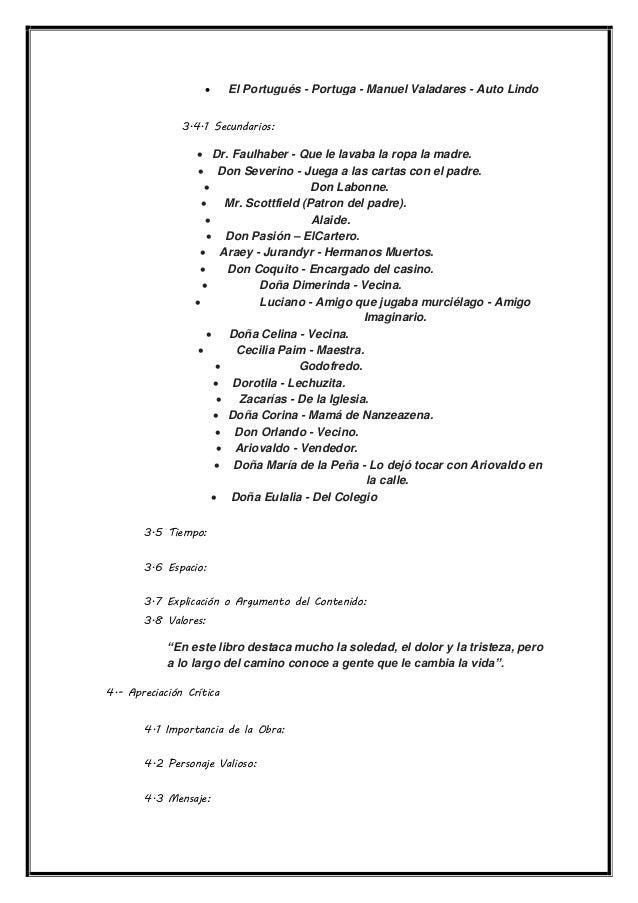  El Portugués - Portuga - Manuel Valadares - Auto Lindo 3.4.1 Secundarios:  Dr. Faulhaber - Que le lavaba la ropa la mad...