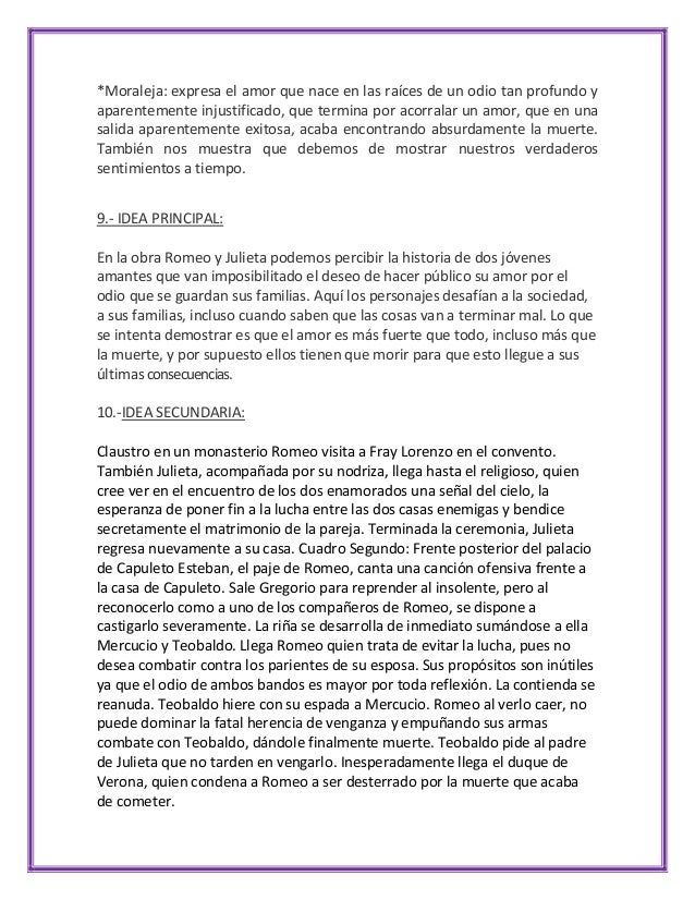 Analisis Literario Romeo Y Julieta