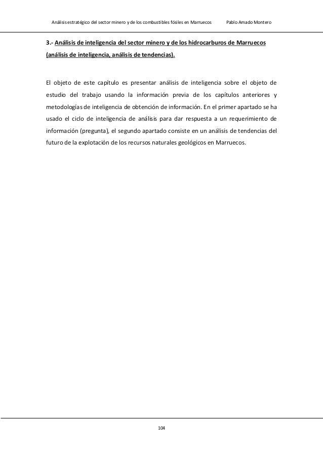 Analisis minero combustible, por Pablo Amado Montero