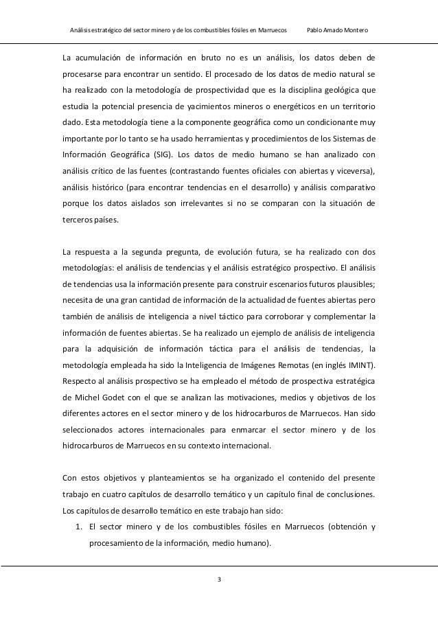 Análisis estratégico del sector minero y de los combustibles fósiles en Marruecos Pablo Amado Montero 5
