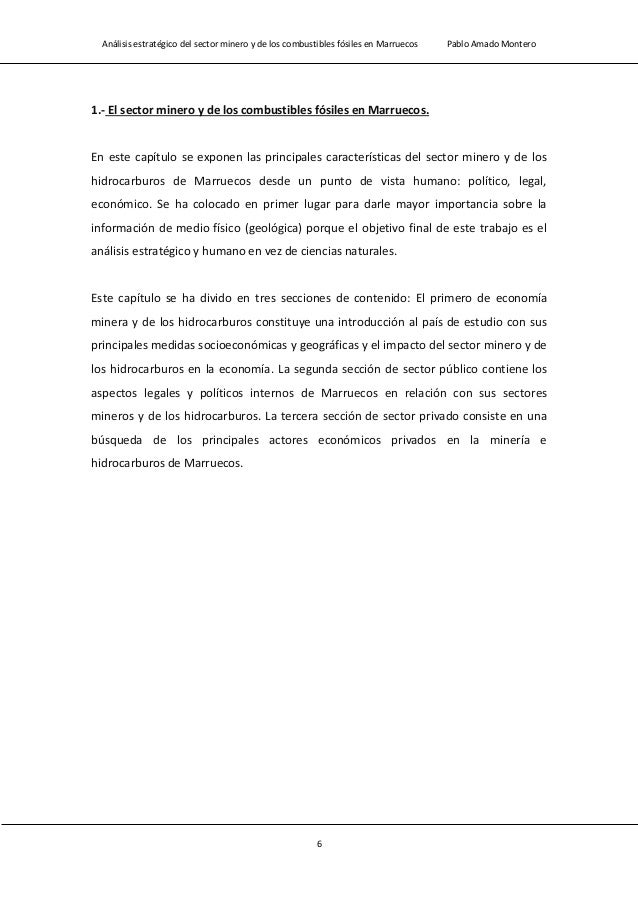 Análisis estratégico del sector minero y de los combustibles fósiles en Marruecos Pablo Amado Montero 8 Figura 1.1 Mapa ge...