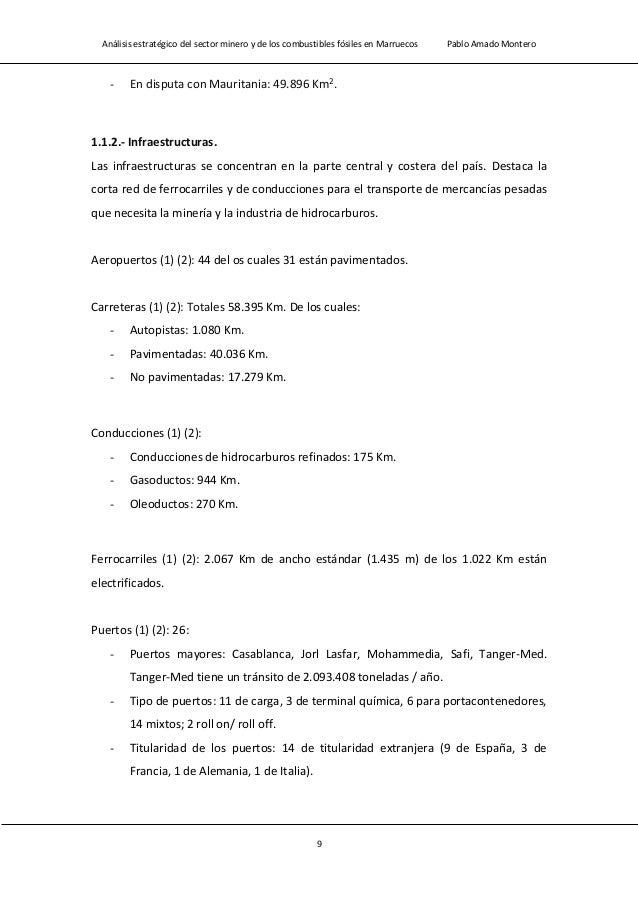 Análisis estratégico del sector minero y de los combustibles fósiles en Marruecos Pablo Amado Montero 11 Esperanza de vida...
