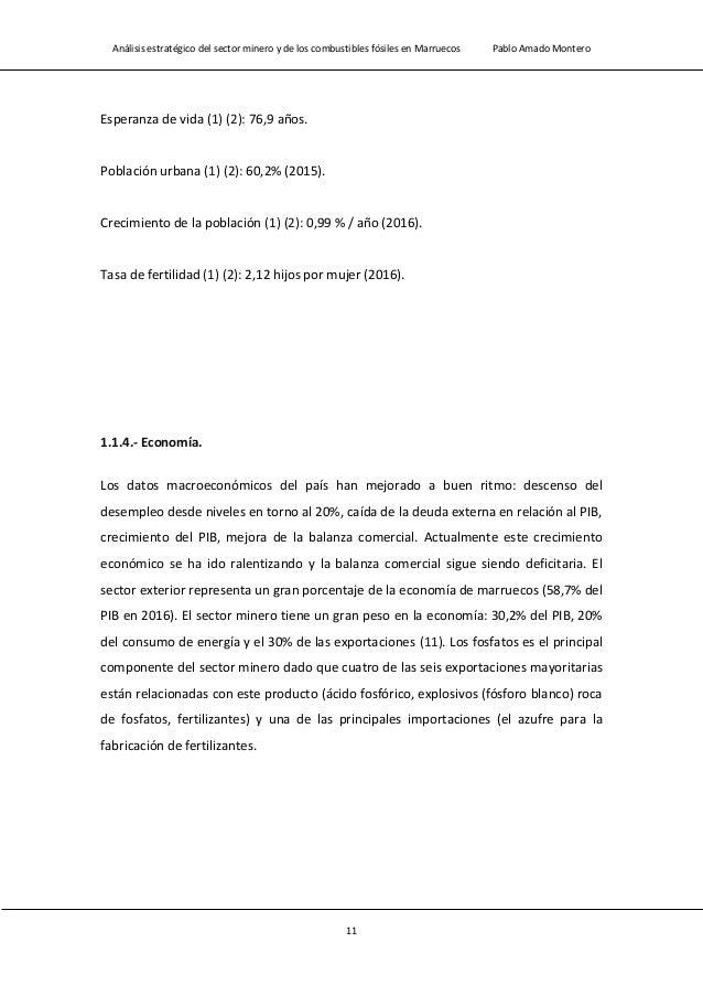Análisis estratégico del sector minero y de los combustibles fósiles en Marruecos Pablo Amado Montero 13 Renta per cápita ...