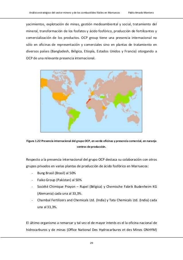 Análisis estratégico del sector minero y de los combustibles fósiles en Marruecos Pablo Amado Montero 31 1.2.2.- Normativa...