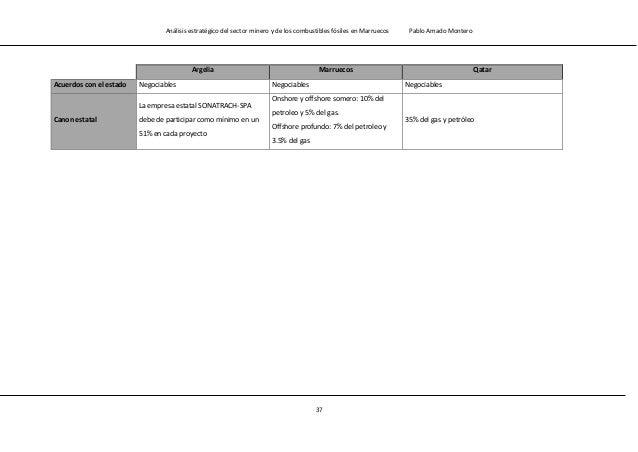 Análisis estratégico del sector minero y de los combustibles fósiles en Marruecos Pablo Amado Montero 39 1.3.- Sector priv...