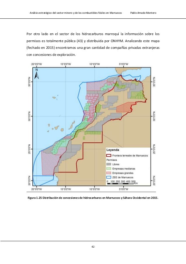 Análisis estratégico del sector minero y de los combustibles fósiles en Marruecos Pablo Amado Montero 44 Nombre de la comp...