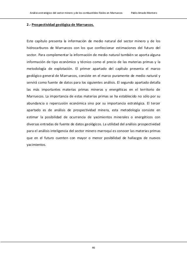 Análisis estratégico del sector minero y de los combustibles fósiles en Marruecos Pablo Amado Montero 48 sedimentarias) co...