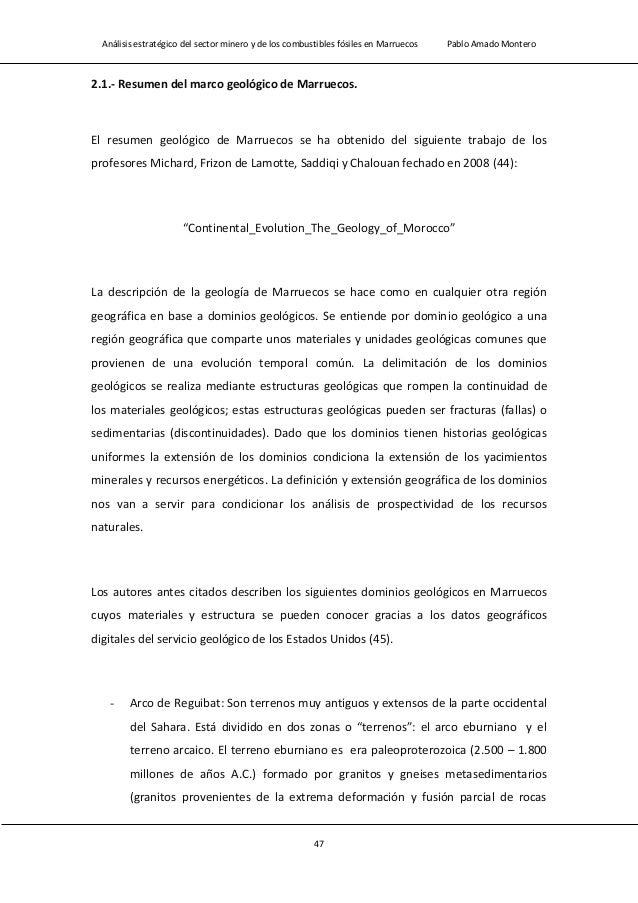 Análisis estratégico del sector minero y de los combustibles fósiles en Marruecos Pablo Amado Montero 49 la cuenca de Tind...