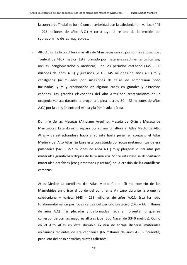 Análisis estratégico del sector minero y de los combustibles fósiles en Marruecos Pablo Amado Montero 51 Figura 2.1 Mapa d...