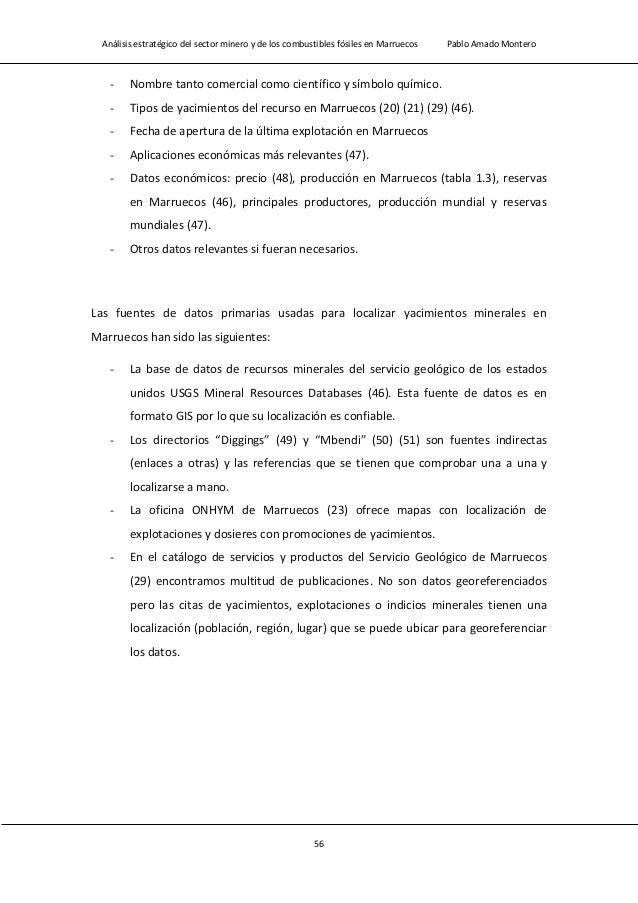 Análisis estratégico del sector minero y de los combustibles fósiles en Marruecos Pablo Amado Montero 58 Figura 2.5 Distri...