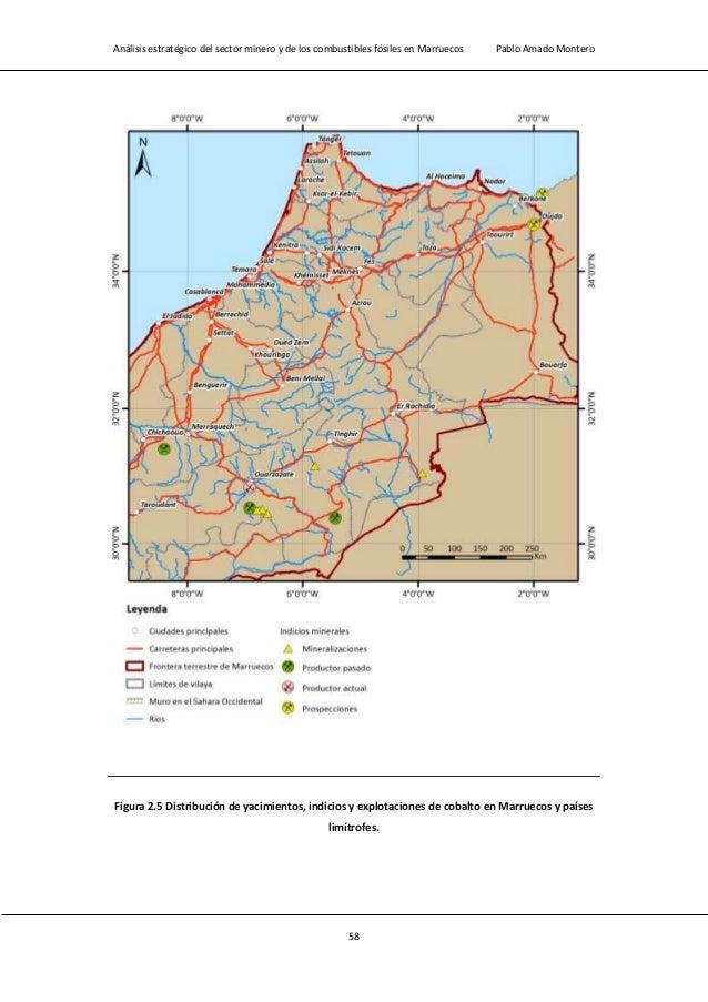Análisis estratégico del sector minero y de los combustibles fósiles en Marruecos Pablo Amado Montero 60 Figura 2.6 Distri...
