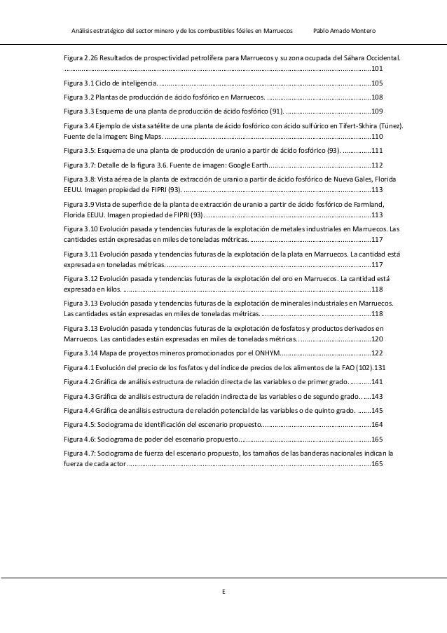 Análisis estratégico del sector minero y de los combustibles fósiles en Marruecos Pablo Amado Montero G Tabla 2.16: Datos ...