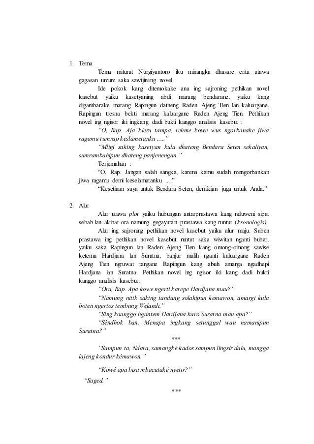 """Analisis Novel Basa Jawa """"Ngulandara"""""""