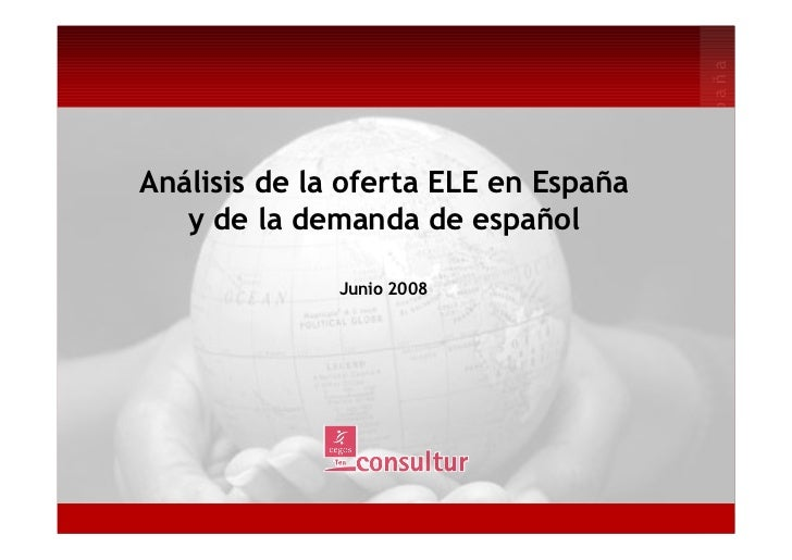 España                                      enAnálisis de la oferta ELE en España                                      idi...