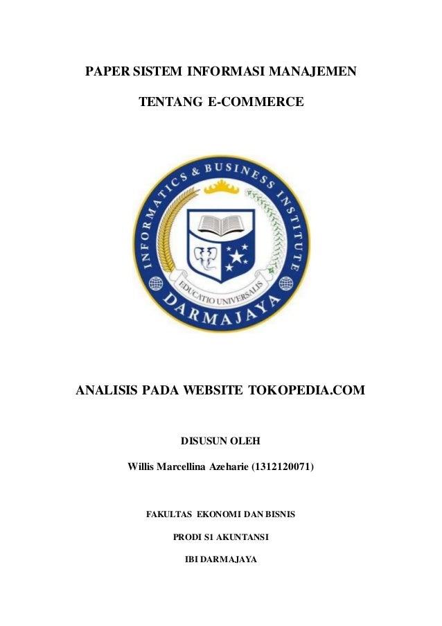 Contoh Makalah E Commerce Shopee
