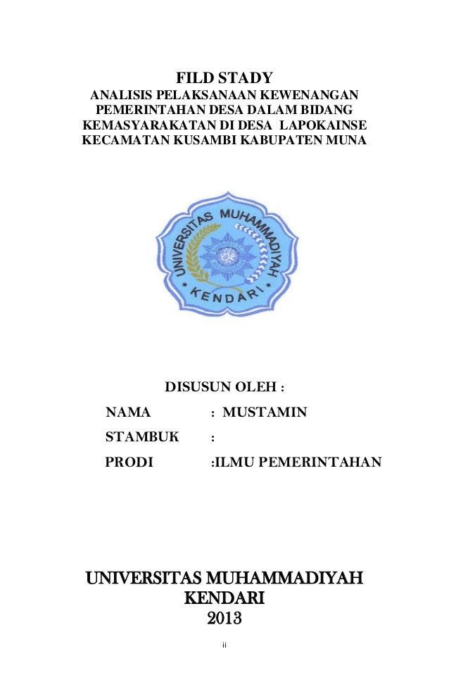 Contoh Judul Skripsi Ilmu Pemerintahan Tentang Kecamatan