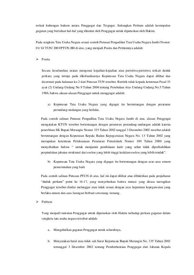 Analisis Penyelesaian Sengketa Dalam Peradilan Tata Usaha Negara Berd