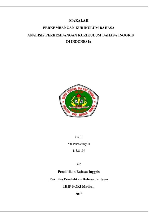 Analisis Perkembangan Kurikulum Bahasa Inggris Di Indonesia