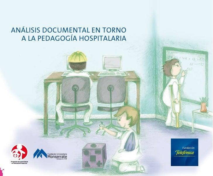 ANÁLISIS DOCUMENTAL EN TORNO   A LA PEDAGOGÍA HOSPITALARIA
