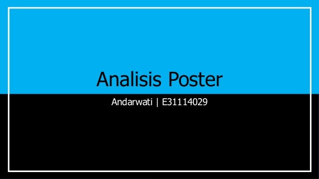 Analisis Poster