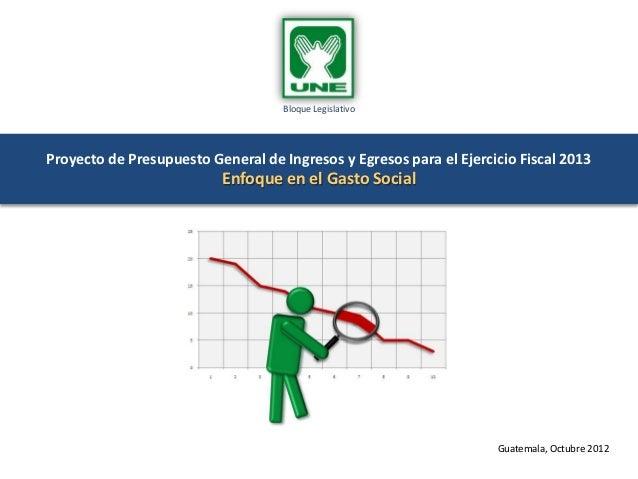 Bloque LegislativoProyecto de Presupuesto General de Ingresos y Egresos para el Ejercicio Fiscal 2013                     ...