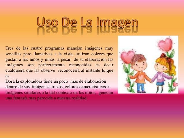 Dentro del lenguaje se reconoce que los programas van dirigidos especialmente a la primera infancia, pues las palabras uti...