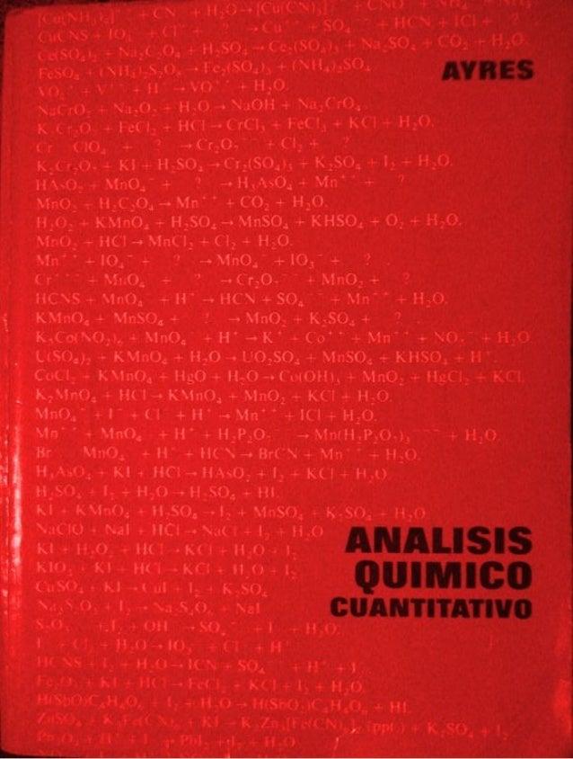 Analisis Quimico de AYRES