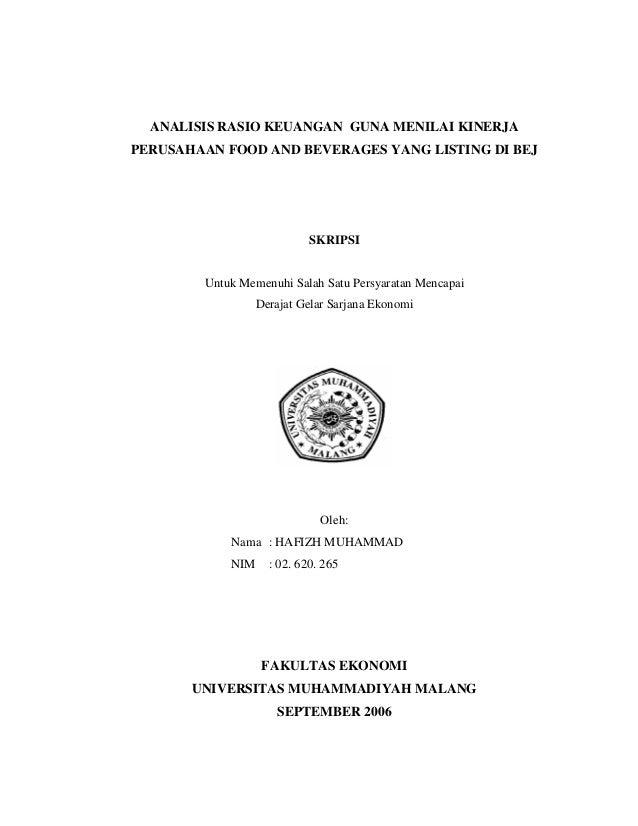 Contoh Proposal Dan Skripsi Manajemen Keuangan Perusahaan Fasrperformance