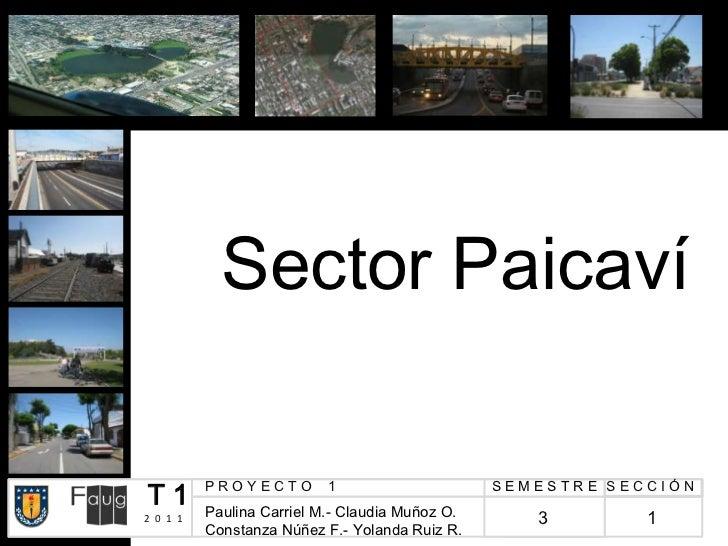 Sector PaicavíT1        PROYECTO         1          Paulina Carriel M.- Claudia Muñoz O.                                  ...