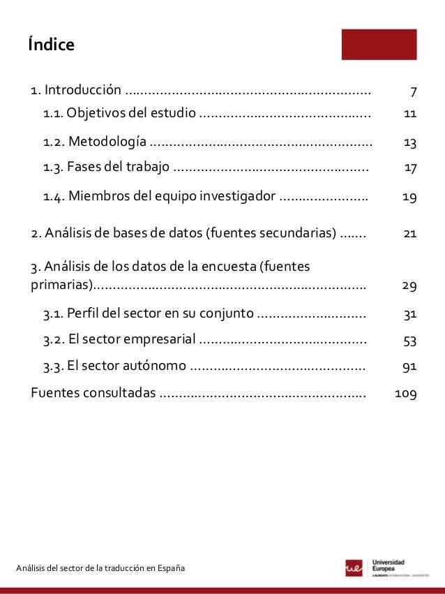 Análisis del sector de la traducción en España (2014-2015) Slide 3