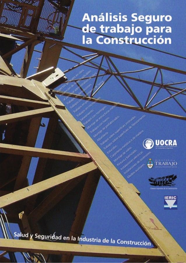 Análisis seguro de trabajo para la construcción