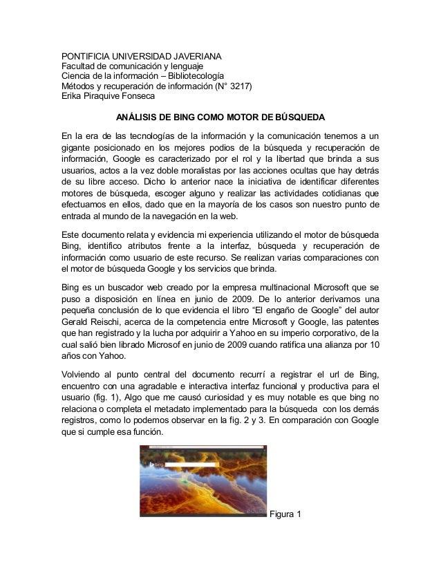 PONTIFICIA UNIVERSIDAD JAVERIANA  Facultad de comunicación y lenguaje  Ciencia de la información – Bibliotecología  Método...