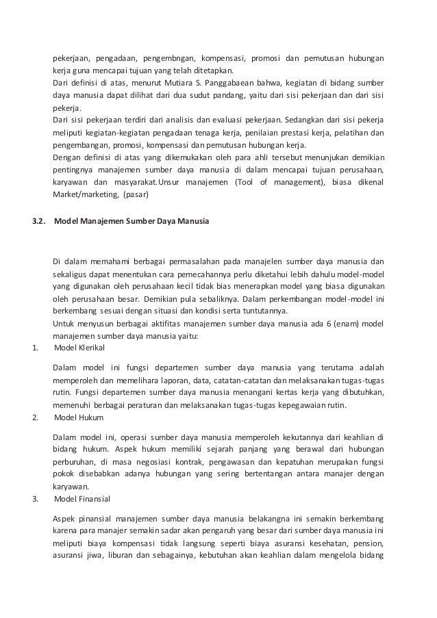Contoh Kasus Pelatihan Dan Pengembangan Sdm Perusahaan Barisan Contoh