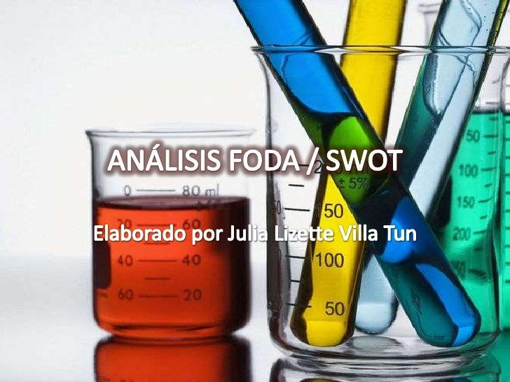 ANÁLISIS FODA / SWOT<br />Elaborado por Julia Lizette Villa Tun<br />