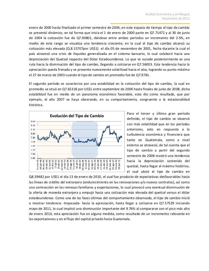 Analisis del Tipo de Cambio Guatemala
