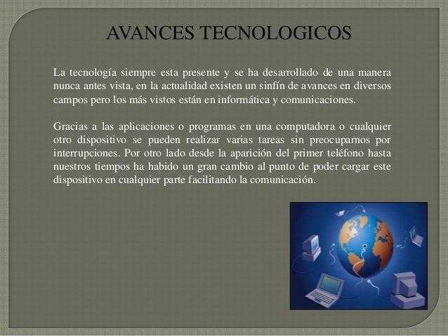 inventos tecnologicos resumen