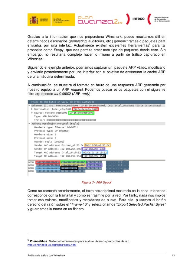 Analisis trafico wireshark