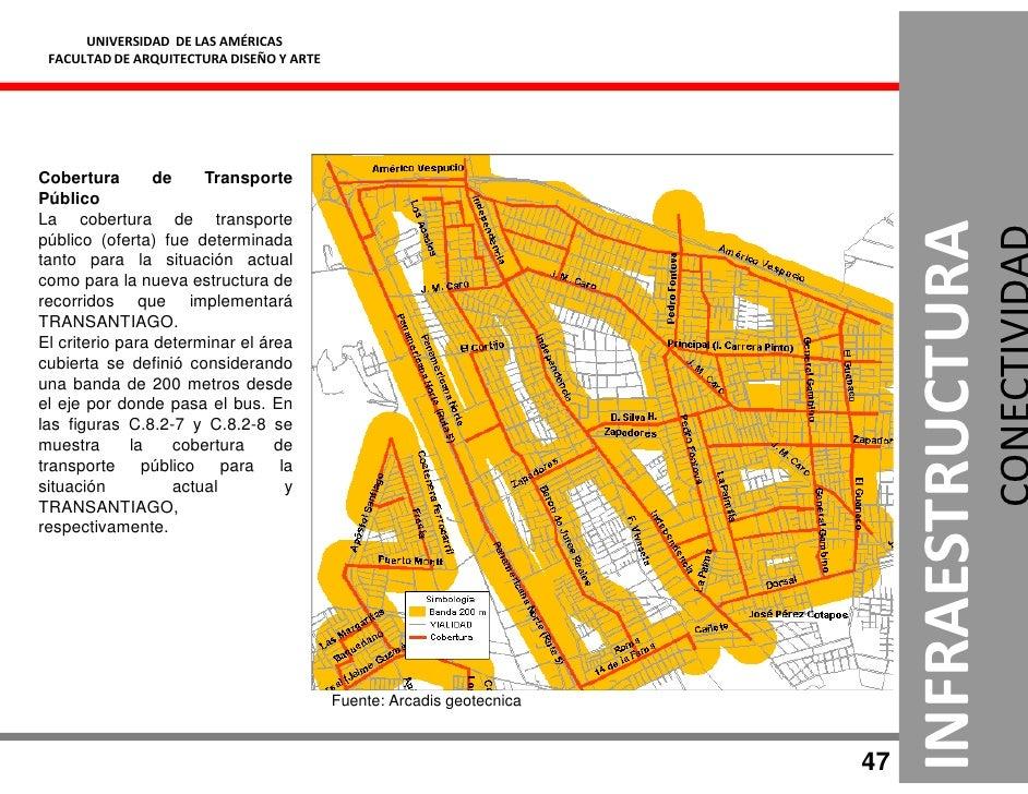 UNIVERSIDAD DE LAS AMÉRICAS  FACULTAD DE ARQUITECTURA DISEÑO Y ARTE     Cobertura        de     Transporte Público La cobe...