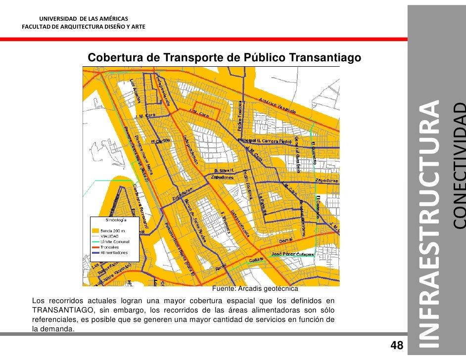 UNIVERSIDAD DE LAS AMÉRICAS FACULTAD DE ARQUITECTURA DISEÑO Y ARTE                         Cobertura de Transporte de Públ...