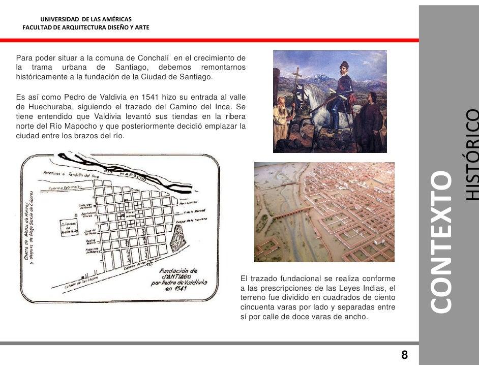 UNIVERSIDAD DE LAS AMÉRICAS  FACULTAD DE ARQUITECTURA DISEÑO Y ARTE    Para poder situar a la comuna de Conchalí en el cre...