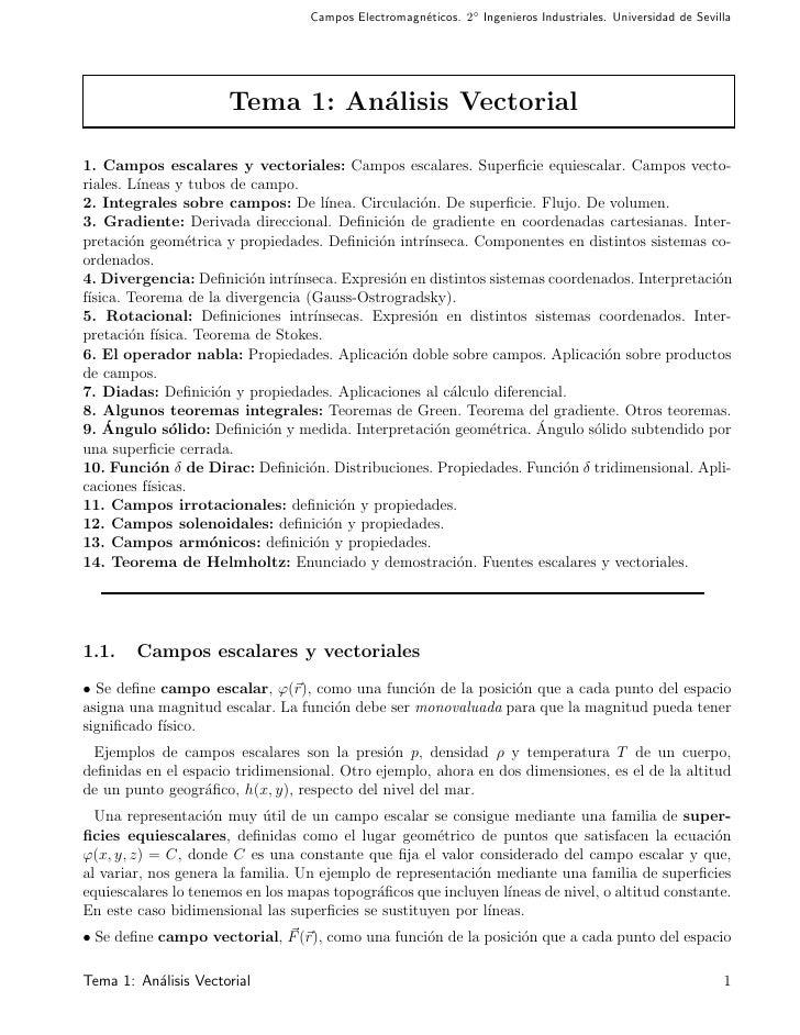 Campos Electromagn´ticos. 2◦ Ingenieros Industriales. Universidad de Sevilla                                              ...