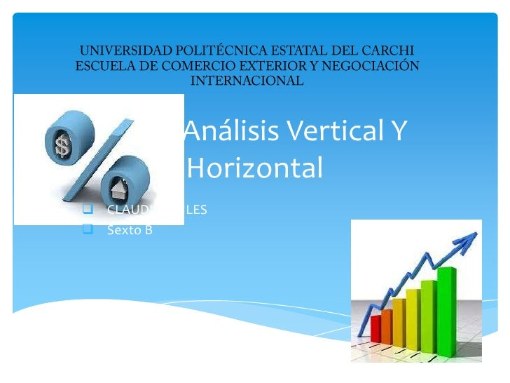 Análisis Vertical Y            Horizontal CLAUDIA CHILES Sexto B