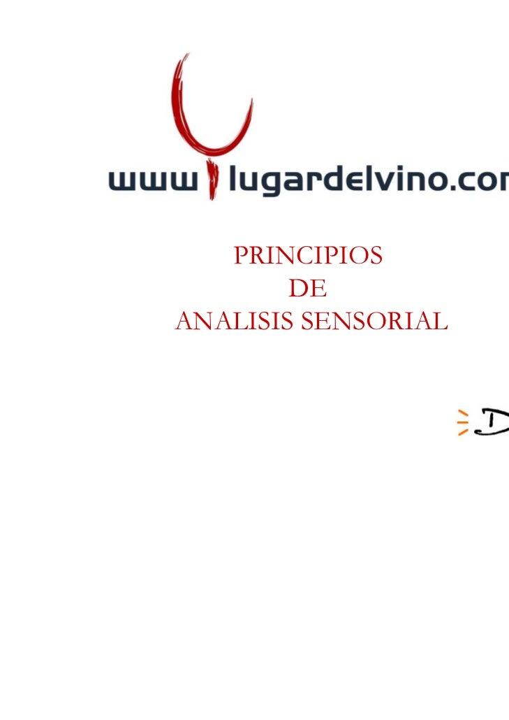 PRINCIPIOS        DEANALISIS SENSORIAL